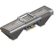 Obojstranný magnetický separátor MSV LML s ofukovým systémom