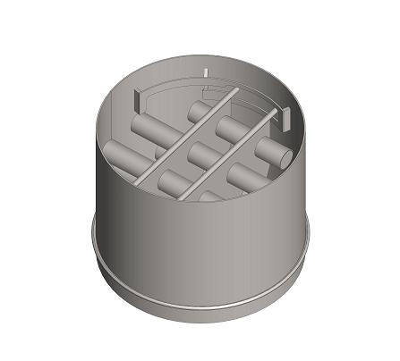 Dvojposchodový magnetický rošt v potrubí na koniec baliacej linky - DMRP